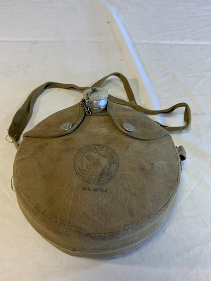 Boy Scouts of America vintage canteen w/case