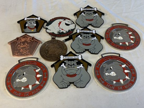 Lot of 10 VRC BULL DOG Diecast Medals