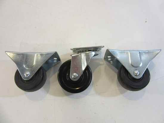 Lot of 3 Casters Wheels