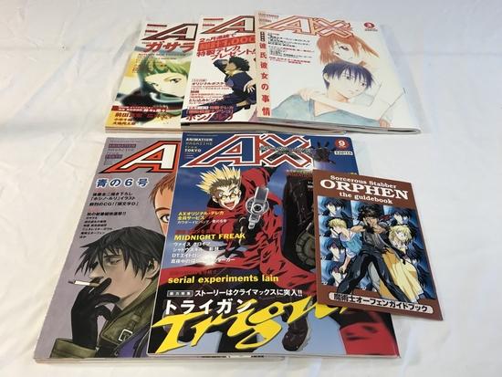 Lot of 5 Japan Anime Magazines-Great Art