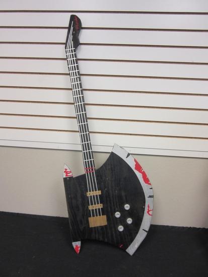 "Homemade Guitar-Axe Decoration/Prop 48"" Long"