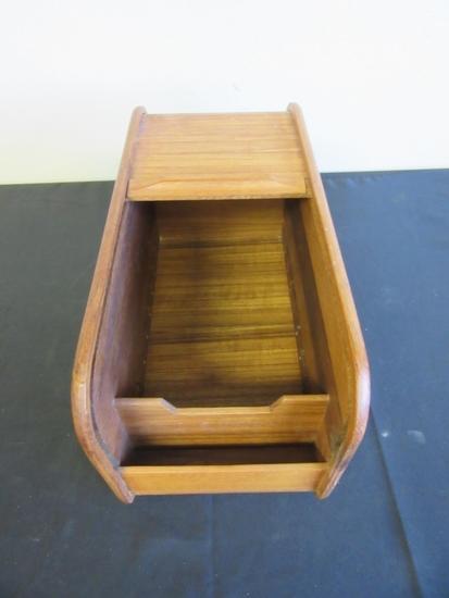 """Kalmar Teak Wood Bread Box 14""""x6.5""""x7"""""""