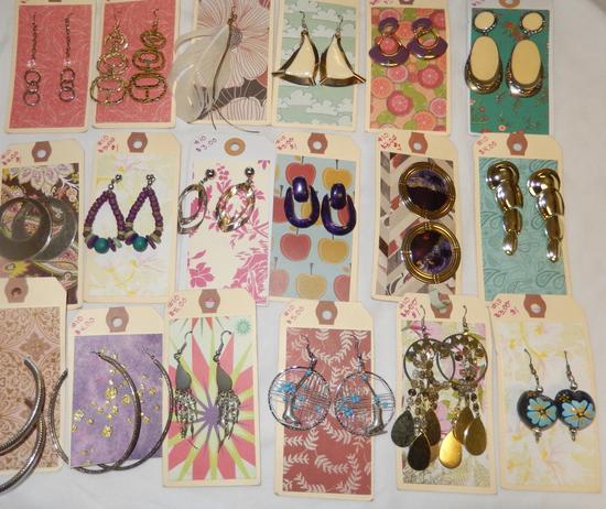 18 pr assort costume earrings