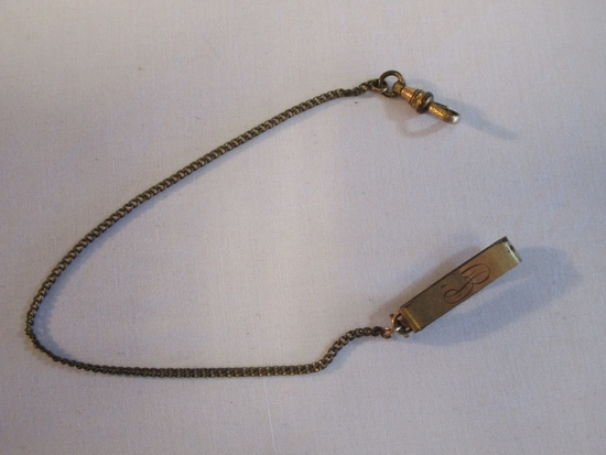 """RGP Watch Chain With Belt Loop Initialed """"B"""""""