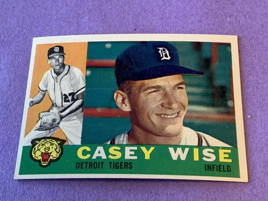 CASEY WISE Tigers 1960 Topps Baseball Card #342
