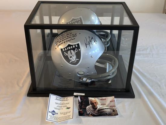 RAY GUY Raiders SIGNED FS Helmet COA  #7 out of 8