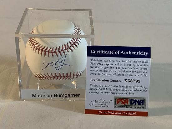 MADISON BUMGARNER Giants AUTOGRAPH Baseball PSA