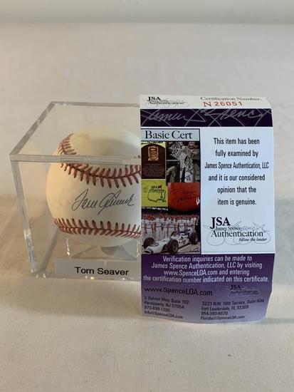 TOM SEAVER Mets AUTOGRAPH SIGNED Baseball JSA COA
