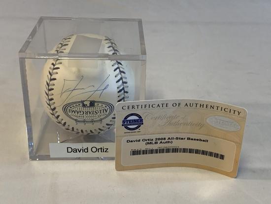 DAVID ORTIZ Red Sox SIGNED Baseball  MLB COA
