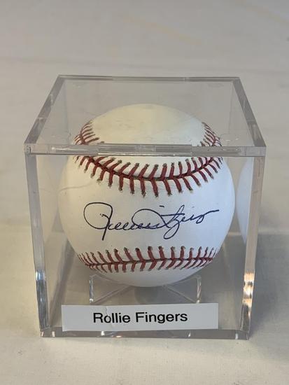 ROLLIE FINGERS SIGNED Baseball MLB Hologram COA