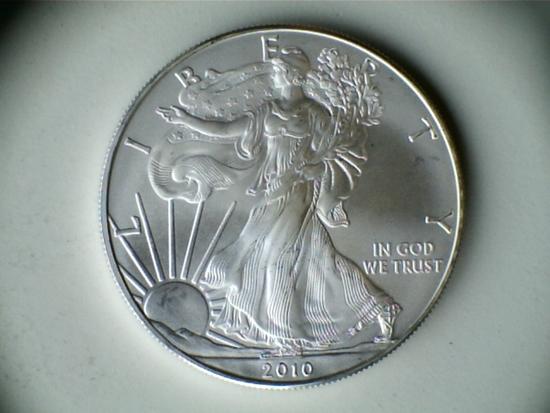 2010 .999 1oz Silver American Eagle Dollar