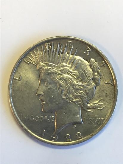 1922 Peace Silver Dollar 90% Silver