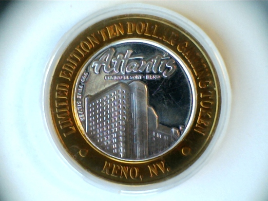 .999 Silver Atlantis $10 Limited Edition Token
