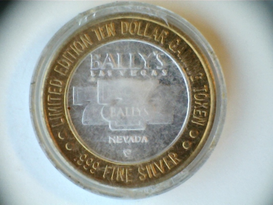 .999 Silver Bally's $10 Limited Edition Token