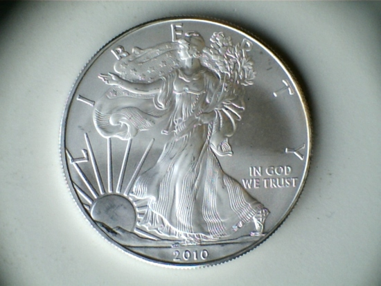 2010 .999 1oz Silver American Eagle Dollar