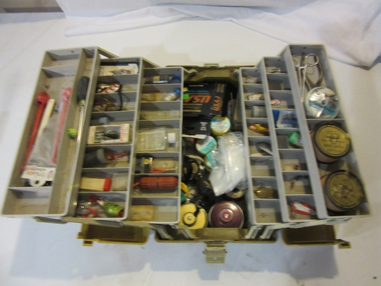 Plano Tackle Box Filled With Fishing Supplies