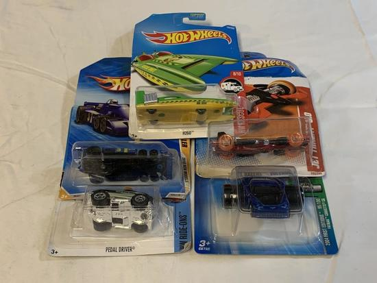 Lot of 5 Hot Wheels Diecast Cars NEW in packages