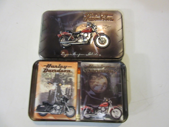 Limited Edition Harley Davidson Tin w/ 2 Packs of