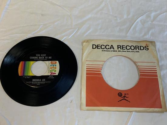 BRENDA LEE Coming On Strong 45 RPM 1966