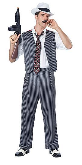 MOBSTER Mens Costume Sz XL NEW California Costumes