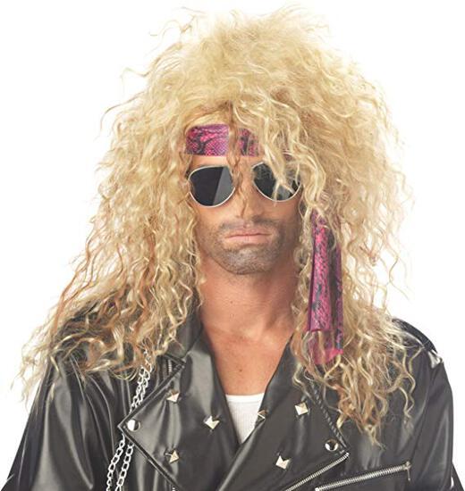 HEAVY METAL ROCKER Adult Wig Costume NEW
