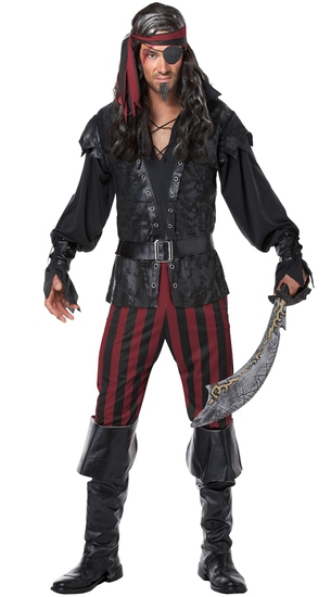 RUTHLESS ROGUE PIRATE Costume Size Small NEW