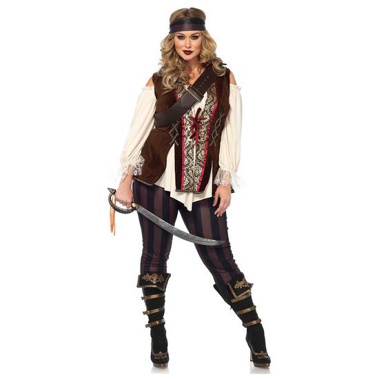 CAPTAIN BLACKHEART PIRATE Costume Size 3X 4X NEW