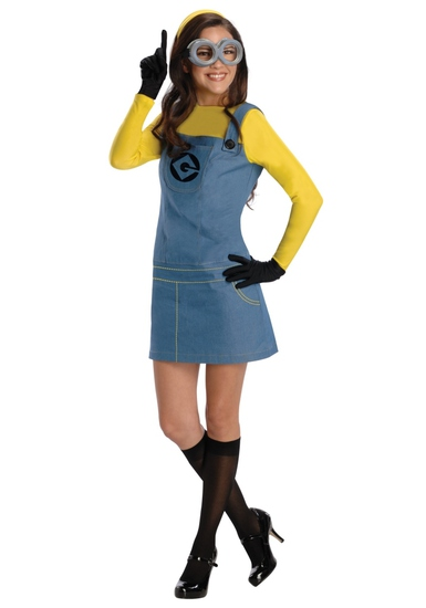 Despicable FEMALE MINION Costume Size Small NEW