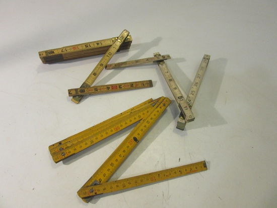 Lot of 3 Folding Extension Rulers, Incl.: Lufkin