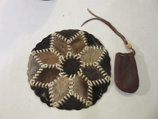 Lot of 2 Vintage Leather Items, Including: Pouch
