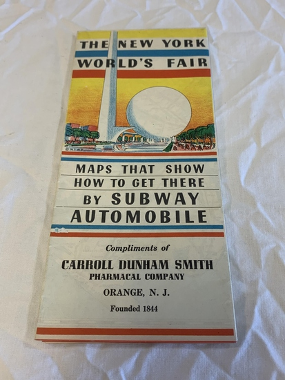 1939 THE NEW YORK WORLD'S FAIR. Maps on How to Get