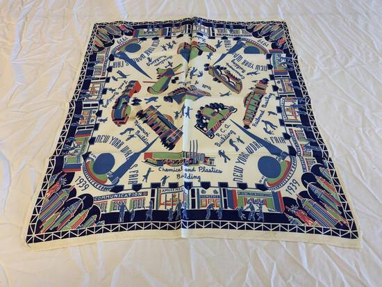 Vintage 1939 New York world's fair handkerchief