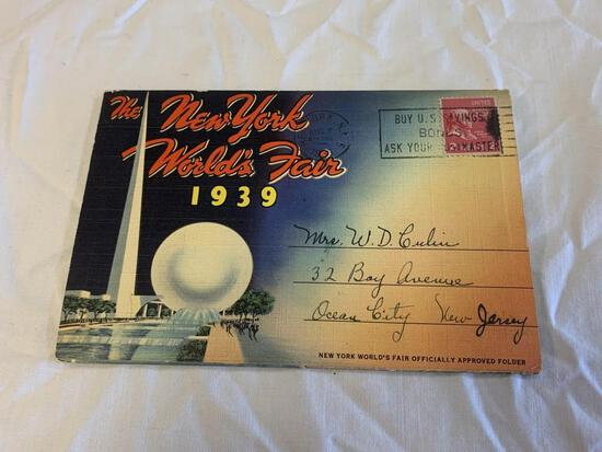 1939 New York World's Fair Fold Out Photo Booklet
