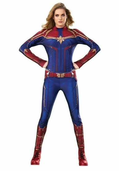 CAPTAIN MARVEL Womens Adult Costume Size Large NEW