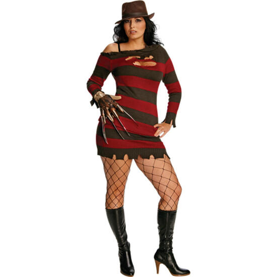 FREDDY KRUEGER Women's Adult Costume Plus Size NEW