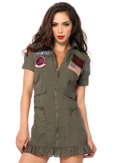 TOP GUN Flight Dress Women's Costume NEW Medium