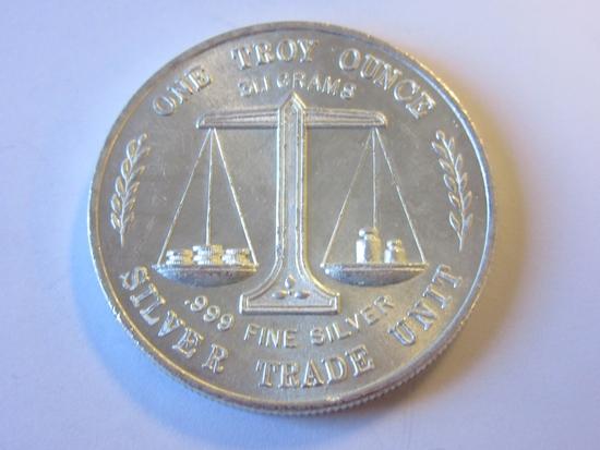 .999 Silver 1oz Silver Trade Unit