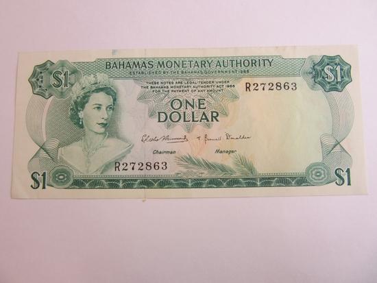 1968 Bahamas Monetary Authority $1 Banknote