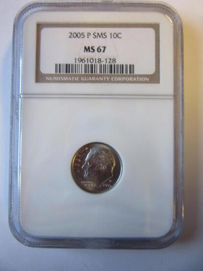 2005-P SMS Roosevelt Dime MS67
