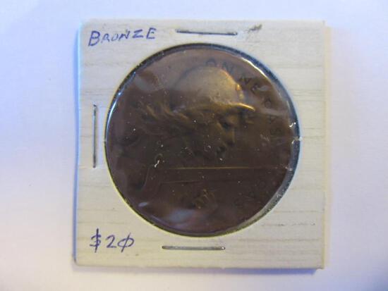 1917 Bronze On Ne Passe Pas Verdun Medal