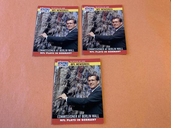 (3) PAUL TAGLIABUE 1990 Proset Football Cards