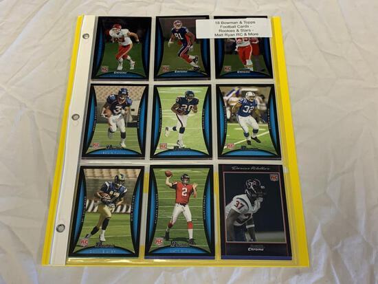 Lot of 18 STARS & ROOKIES Football Cards