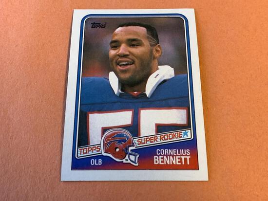 CORNELIUS BENNETT 1988 Topps Football ROOKIE Card