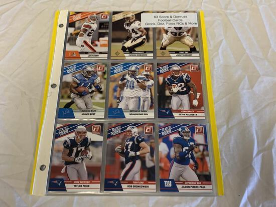 Lot of 63 STARS & ROOKIES Football Cards