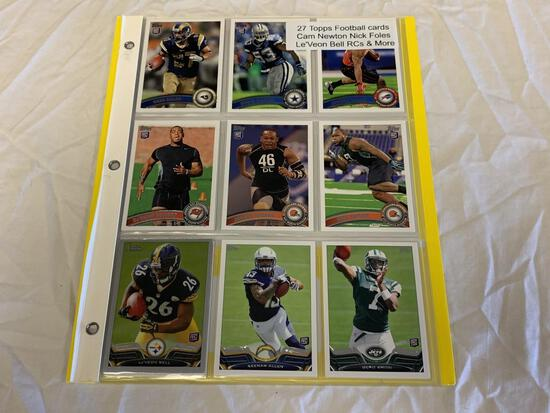 Lot of 27 2011 Topps Football ROOKIE Cards