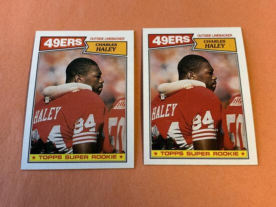 (2) CHARLES HALEY 1987 Topps Football ROOKIE Cards