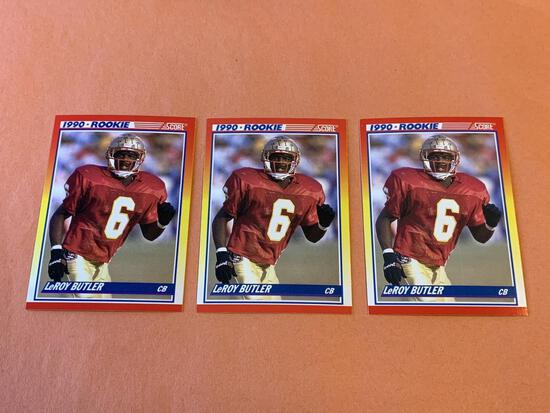 (3) LEROY BUTLER Packers 1990 Score Football RC