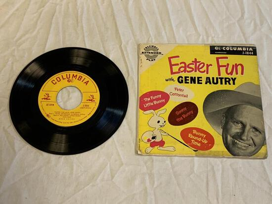 GENE AUTRY Easter Fun 45 RPM EP Record 1950's