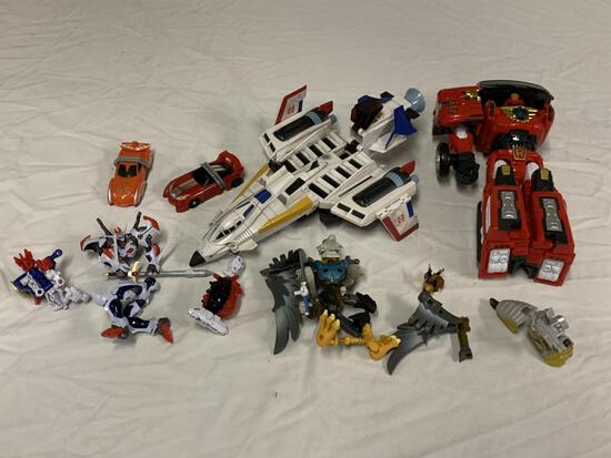 Lot of Transformers Style Toys