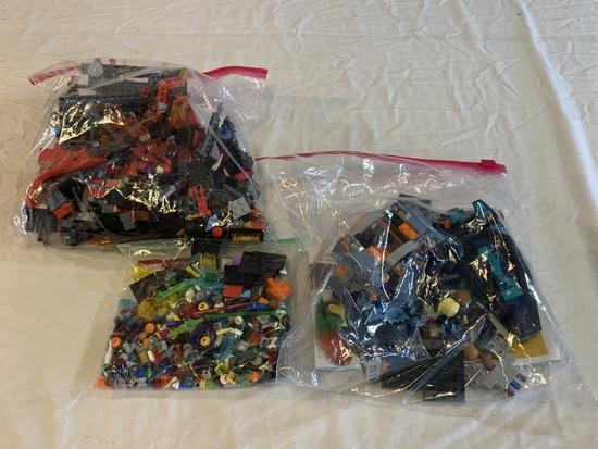 Lot of 3 Ziploc Bags of Legos Parts & accessories